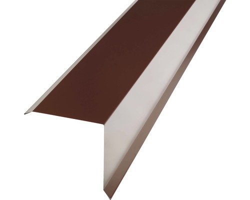 PRECIT Kantenwinkel für Metallziegel chocolate brown RAL 8017 2000 x 95 x 100 mm