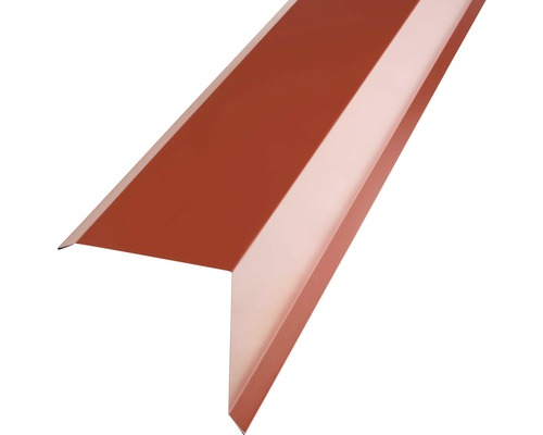 PRECIT Kantenwinkel für Metallziegel oxide red RAL 3009 1000 x 95 x 100 mm