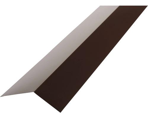 PRECIT Rinneneinhang für Trapezblech H12 chocolate brown RAL 8017 2000 x 65 x 83 mm