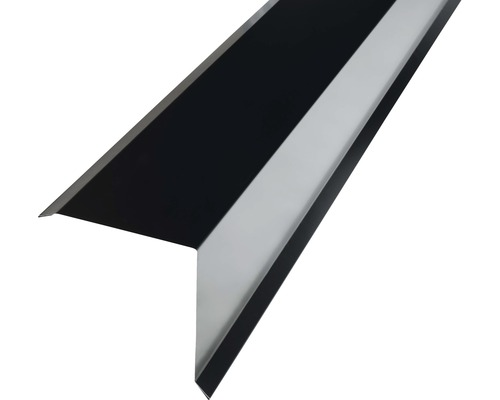 PRECIT Kantenwinkel für Metallziegel jet black RAL 9005 2000 x 95 x 100 mm