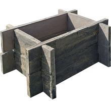 Beton Hochbeet Stecksystem Antik braun ohne Verschraubung 100 x 75 x 42 cm