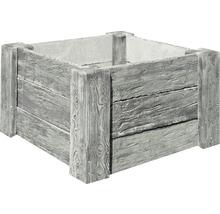 Beton Hochbeet Cube Antik grau mit vormontiertem Gewinde 120 x 120 x 69 cm