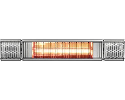 Terrassenstrahler Eurom Heat&Beat grau 2000 Watt IP 65 (staubdicht und strahlwassergeschützt)
