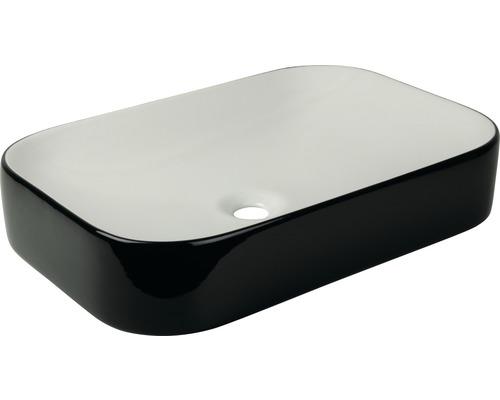 Aufsatzwaschbecken cuandO 60 x 40 cm weiß/schwarz