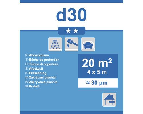 Abdeckplane D30 transparent 4 x 5m