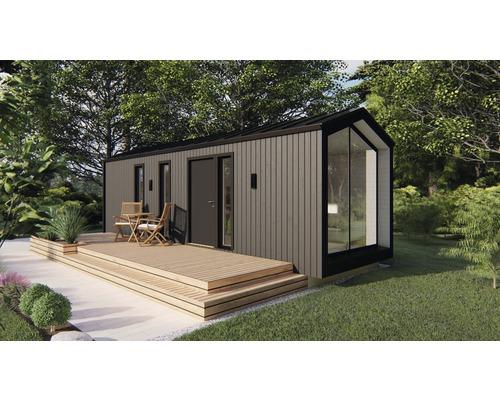 Tiny House Gartenhaus Modern Schlusselfertig Montiert Inkl Fussboden 900 X 300 2 Cm Anthrazit Bei Hornbach Kaufen