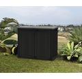 Garten-Gerätebox, Mülltonnenbox Keter Store-it-out Prime inkl. Gasdruckfedern 132 x 71,5 x 113,5 cm schwarz-grau