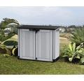 Garten-Gerätebox, Mülltonnenbox Keter Store-it-out Prime inkl. Gasdruckfedern 132 x 71,5 x 113,5 cm grau-antrazit
