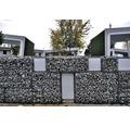 Fertiggabione 100 x 50 x 50 cm gefüllt mit Gabionensteinen Grigio Occhialino 70-120 mm