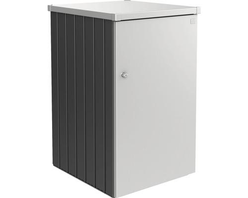 Mülltonnenbox biohort Alex Variante 3.1 80 x 88 x 129 cm dunkelgrau-silber