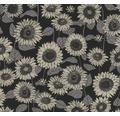 Vliestapete 37685-4 New Life Blumen schwarz