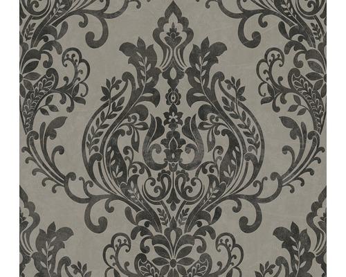 Vliestapete 37681-3 New Life Ornamente grau schwarz