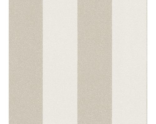 Vliestapete 37554-3 New Elegance Blockstreifen beige