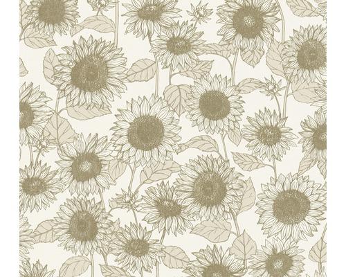 Vliestapete 37685-1 New Life Blumen beige
