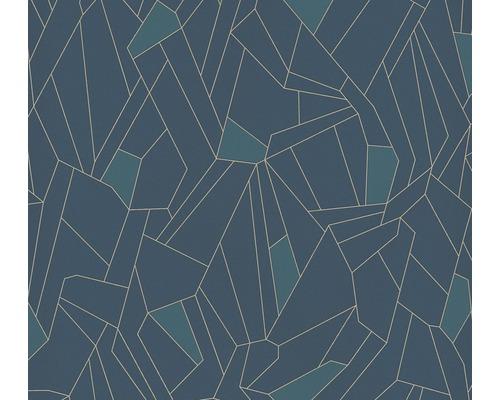 Vliestapete 37677-2 New Life Grafik blau gold