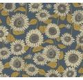 Vliestapete 37685-3 New Life Blumen blau gold