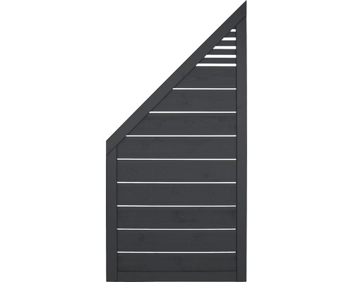 Zaunelement Lovis 90x180/90 cm, anthrazit