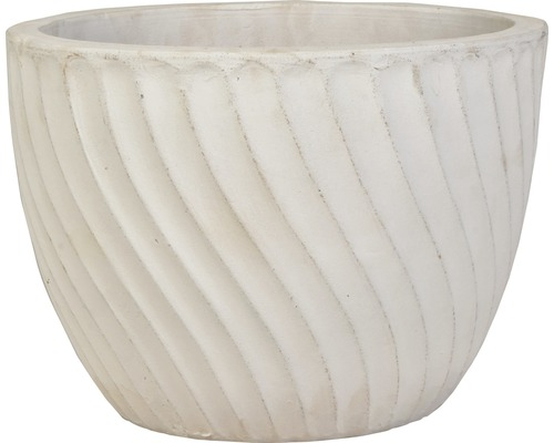 Lafiora Pflanztopf Ø 33 cm H 25 cm vintage weiß