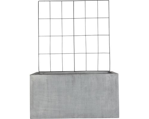 Lafiora Pflanzkübel und Rankgitter L80xH40 cm grau