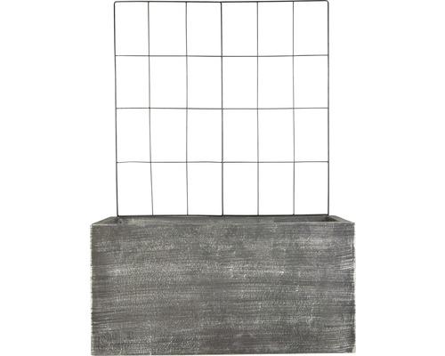Lafiora Pflanzkübel und Rankgitter L60xH30 cm dunklegrau