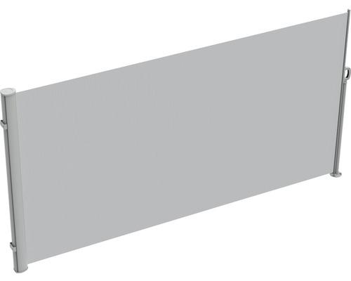 Seitenmarkise 1,6x3 Stoff Uni hellgrau mit abnehmbarem Pfosten
