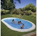 Einbaupool oval Einbaupool 800 x 400 x 150 cm 38840 l Weiß inkl. Sandfilteranlage