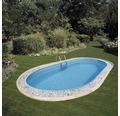 oval Einbaupool 500 x 300 x 120 cm 12360 l Weiß inkl. Sandfilteranlage