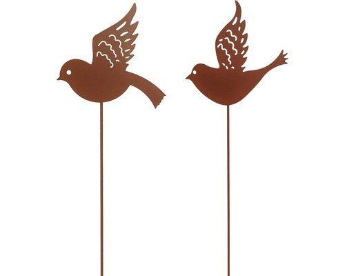 Dekostab Vogel H 115 cm Metall