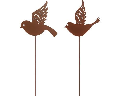 Dekostab Vogel H 85 cm Metall