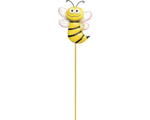 Dekostab Gartenstecker lang Biene Motiv A H 95 cm gelb