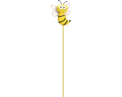 Dekostab Gartenstecker Biene Motiv A H 50 cm gelb
