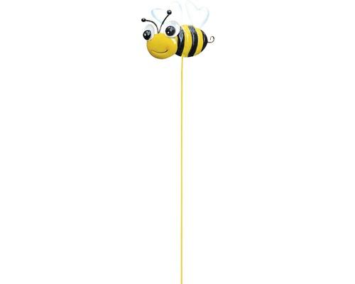 Dekostab Gartenstecker Biene H 50 cm gelb