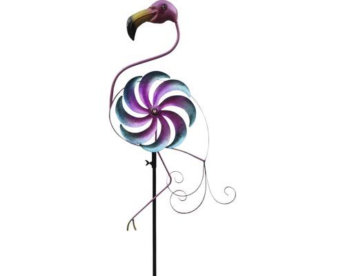 Metall Windmühle Flamingo H 138 cm
