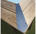 Aufstellpool Holzpool-Set eckig 618x320x130 cm inkl. Sandfilteranlage, Skimmer, Leiter, Filtersand & Bodenschutzvlies Holz