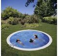 Einbaupool rund Einbaupool Ø 420 x 120 cm 14540 l Weiß inkl. Sandfilteranlage