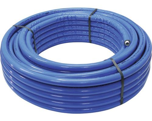 Alu-Verbundrohr isoliert 16 x 2 mm x 50 m mit 6 mm Isolierung blau