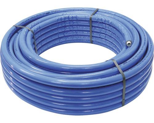 Alu-Verbundrohr isoliert 20 x 2 mm x 50 m mit 6 mm Isolierung blau