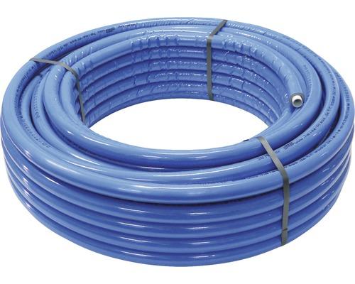Alu-Verbundrohr isoliert 26 x 3 mm x 25 m mit 6 mm Isolierung blau