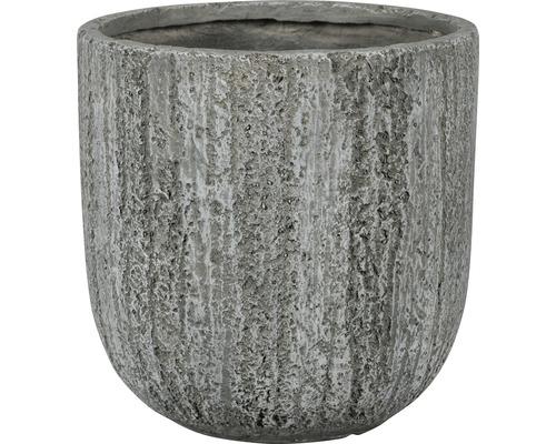 Lafiora Pflanztopf Kunststein Ø 50 cm hellgrau
