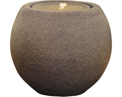 """Gartenbrunnen """"Ball LED"""" Polyresin rost"""