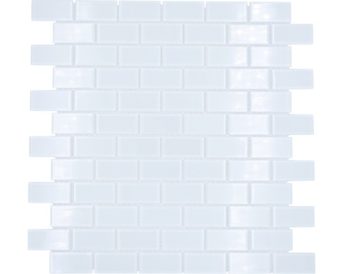 Glasmosaik CM B400 weiß 31x32,2 cm