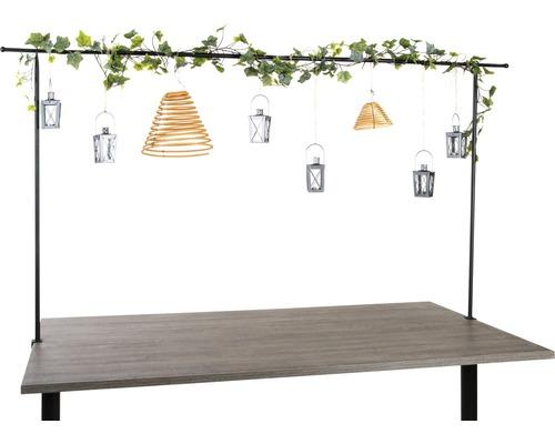 Tisch Dekohänger Dekostange 117-210 x H 110 cm schwarz