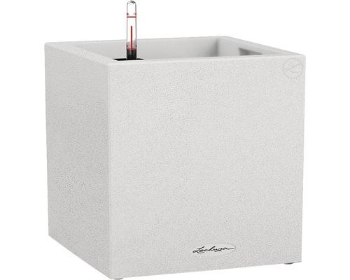 Pflanzkübel Lechuza Canto Stone 30 x 30 x 30 cm weiß inkl. Erdbewässerungssystem