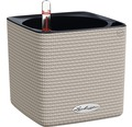 Blumentopf Lechuza Cube Color Kunststoff 14x14x14 cm sandbraun inkl. Erdbewässerungssystem und Wasserstandsanzeiger