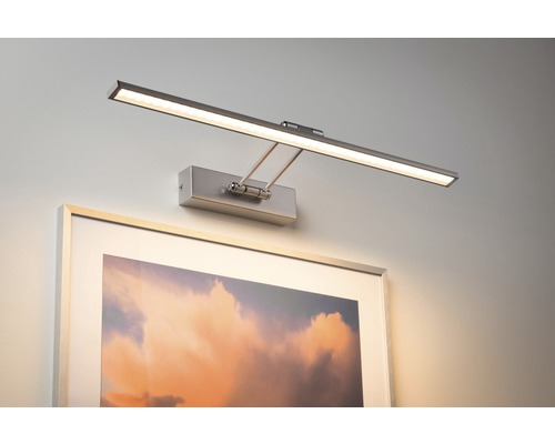 LED Bilderleuchte 1x11W 1050 lm 2700 K warmweiß Beam Sixty nickel/gebürstet B 585 mm