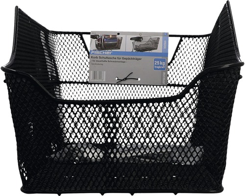 FISCHER Gepäckträgerkorb für Schultaschen