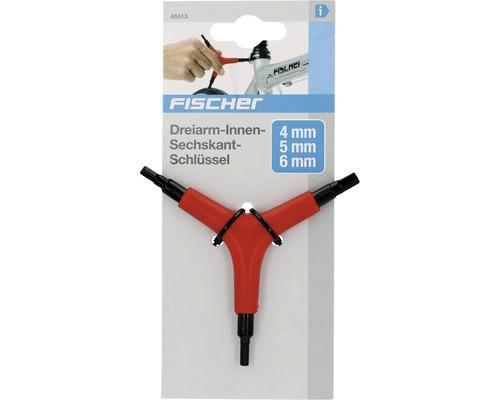 Dreiarm-Innensechskant Schraubendreher FISCHER 4mm/5mm/6mm