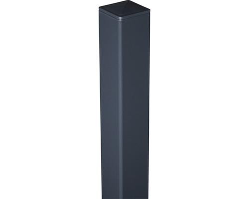 Alutorpfosten mit Kappe Novara/Belfort DB703 zA 6x6x190 cm, anthrazit