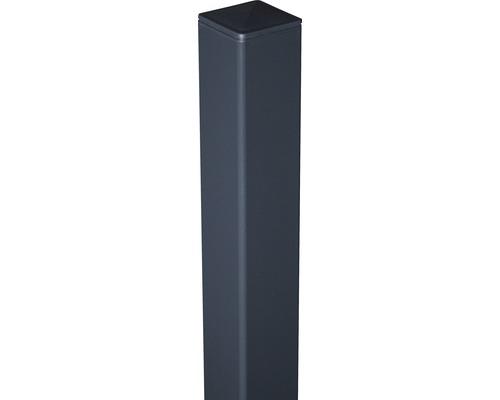 Alutorpfosten mit Kappe Novara/Belfort DB703 zE 6x6x240 cm, anthrazit