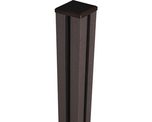 Torpfosten mit Kappe WPC Flex zA 10x10x190 cm, Terra